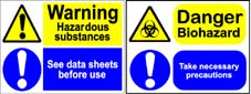 More info on Muti-Message Hazard/ Mandatory Signs